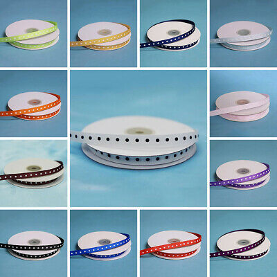 """3/8"""" x 25 yds Polka Dot RIBBON Wedding FAVORS Party Sewing Crafts Supply SALE"""