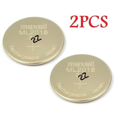 New! Lot 2 MAXELL ML2016 Rechargeable 3V LITHIUM-ION 2016 CMOS RTC BATTERY OEM
