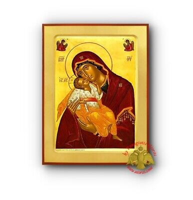 Orthodox Byzantine Wooden Icons Prints Of The Holy Virgin in Great Collection 1