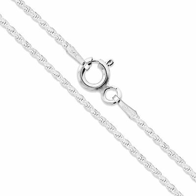 "18"" Sterling Silver Necklace Shiny Italian Rope Chain Pure 925 Italy Wholesale"