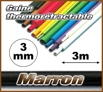 GM3-3# gaine thermorétractable Marron 3mm 3m ratio 2/1