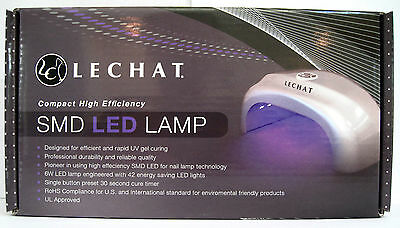 LECHAT SMD LED LAMP LCSLL6W1 Curing gel & gel polish COMPACT SIZE AUTHENTIC NIB