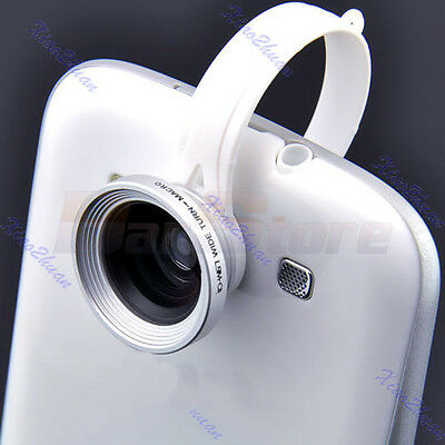 Clip Wide Fish Eye Macro Lens 180°Detachable For iPhone Galaxy HTC