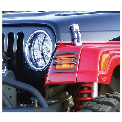 Rampage 85660 Front Euro Light Guard 6-Pc Kit for 2007 + Jeep Wrangler JK