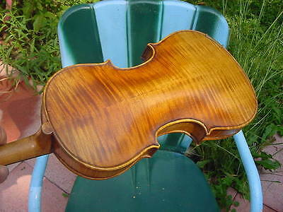 VINTAGE GERMAN or AMERICAN  VIOLIN LATE 19TH C 4/4 FULL SIZE WITH BOW AND CASE