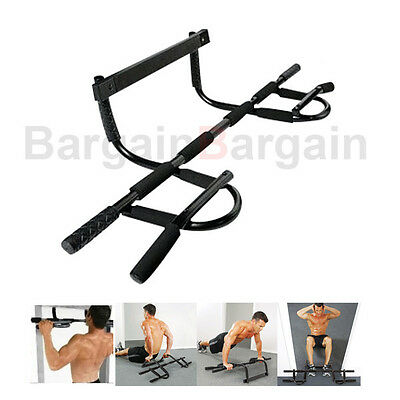 Portable gym workout exercise door doorway pull chin up pullup iron bar ABS big