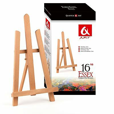 "BEECH WOOD 390MM 16"" 1ft ARTIST TABLE TOP DISPLAY ART EASEL CRAFT WEDDING WOODEN"