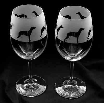 Boxed Newfoundland Dog gift Wine Glasses classic tulip shape