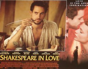SHAKESPEARE IN LOVE - 11x14 US Lobby Cards Set - Gwyneth Paltrow Joseph Fiennes