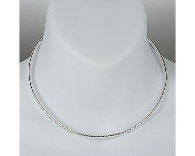 Sterling Silver Omega Necklace Round Snake Chain Pure 925 Italy New US Wholesale
