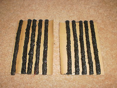 50 BLACK 6mm x 100mm TYRE PUNCTURE REPAIR STRINGS MADE IN THE USA NO GLUE NEEDED
