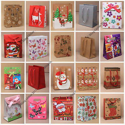 5pcs SMALL / MINI GIFT PRESENT BAGS BIRTHDAYS CHRISTMAS TEDDY XMAS BOX LITTLE