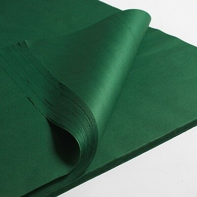 50 100 ream OF GREEN ACID FREE TISSUE WRAPPING PAPER SIZE 450 X 700MM 18 X 28""