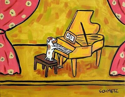 JAck russell TERRier dog PRINT poster gift modern Piano concerto folk 13x19