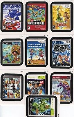 WACKY PACKAGES STICKERS Series Nine Cereal Box Lame Games Set 1-10 Topps 2012