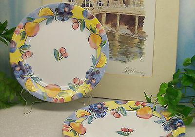 "Lot of 6 Corelle Corning Ware FRUIT BASKET 7 1/4""  Bread Salad Plates EXCELLENT"