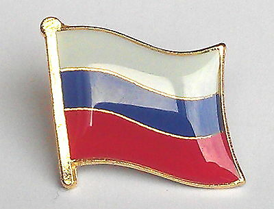 The Russia Federation National Flag Metal Lapel Pin Badge