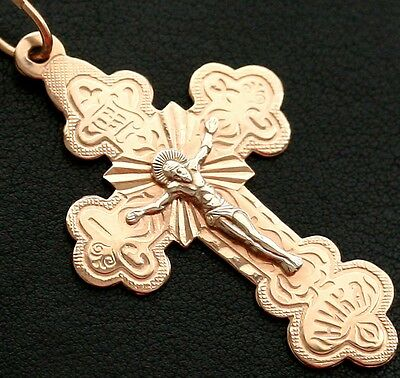 NEW CLASSIC RUSSIAN ORTHODOX CROSS. GOLD 14K-585 . NEW 5.7g. QUICK SALE PRICE !!