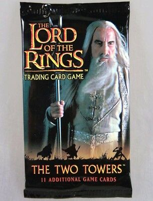 Lord of  the Rings the Two Towers, Spielkarten, Trading Card Game, 11x5