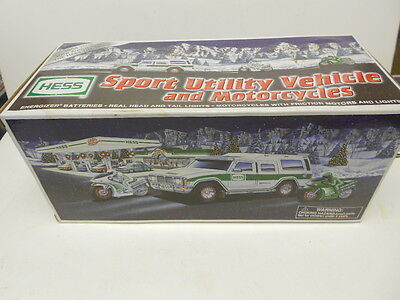 2004 Hess Sport Utility Vehicle And Motorcycle NIB See Discription