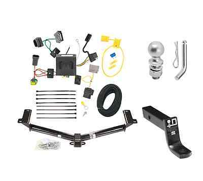 """Class 3 Trailer Hitch Receiver Tow Kit w/ 2"""" Ball & Wiring for Dodge Journey"""