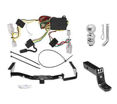 """Class 3 Trailer Hitch Receiver Tow Kit w/ 2"""" Ball & Wiring for Toyota Highlander"""