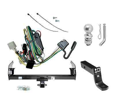 """Class 3 Trailer Hitch Receiver Tow Kit w/ 2"""" Ball & Wiring for 1995-2004 Tacoma"""