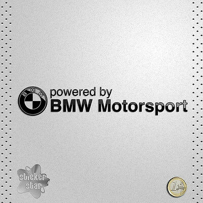Sticker Coche Car Bmw Powered By Bmw Motorsport Vinilo Adhesivo Pegatina Decal