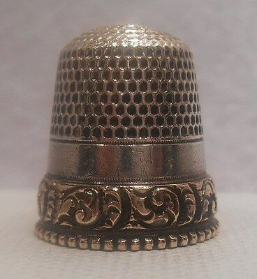 Antique Gold & Sterling Silver Thimble by Goldsmith Stern Co. *Circa 1880s