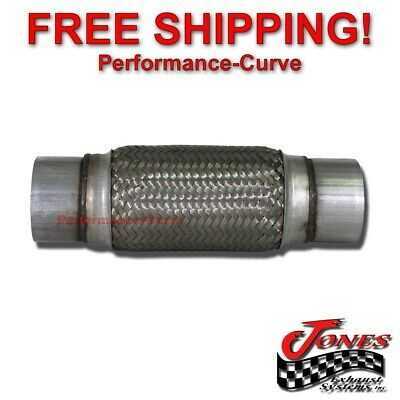 """1 3//4/"""" 1.75/"""" x 4/"""" Exhaust Flex Pipe Tube Stainless Steel Triple Ply"""