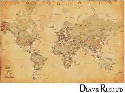 World Map - Vintage Style - Maxi Poster - 61cm x 91.5cm PP31841 - (0207)
