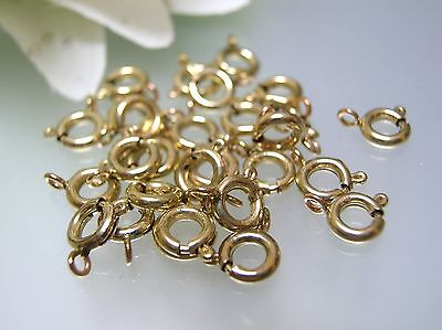 5, 10, 50 pcs 14k gold filled 5.5mm spring ring clasps w/ closed O ring USA made
