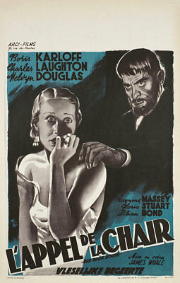 The Old Dark House R1947 Belgian Poster