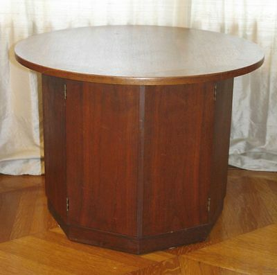 Vintage Teak Danish(?) Round Top Octagonal Side Table. Mid Century Modern RARE!!