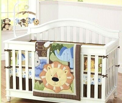 4 sets baby Nursery Crib Cot Bedding Quilt bumper sheet Dust ruffle Cartoon YT01