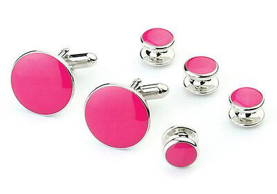 Variety of Vibrant  Colors Tuxedo Cufflinks and Studs