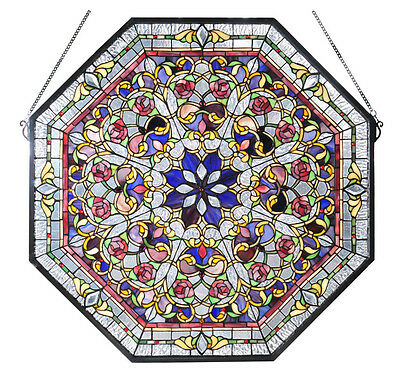 Meyda Tiffany Front Hall Stained Glass Octagon Window Victorian Style
