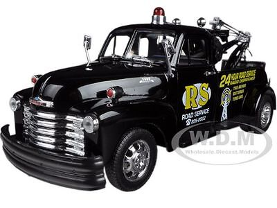 "1953 Chevrolet 3800 Tow Truck Black ""road Service"" 1/24 By Welly 22086"