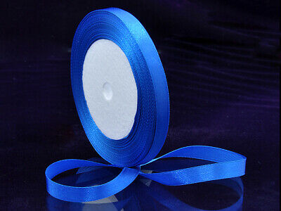 "5 Yards Satin Ribbon 6 mm Deep Blue Embroid Craft 1/4"" Embroidery 4.572 Mtr"