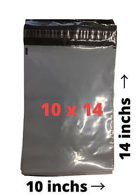 "200 Grey  Mailing Bags / Postal Poly Packing Sacks 250mm x 350mm - 10"" x 14"""