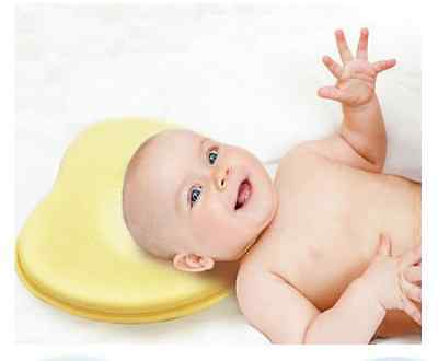 NEW with cover baby head support prevent flat head pillow comfortable UK