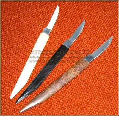 Pen Knife Quill knife in buffalo BONE handle. Medieval historical reenactment