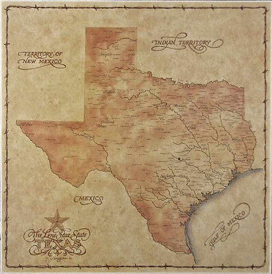 Antique style TEXAS MAP