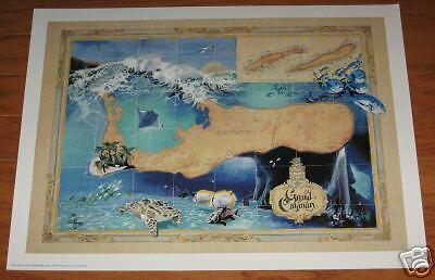 Antique Style  GRAND CAYMAN ART MAP