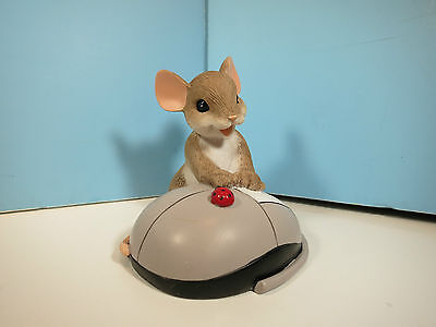 CHARMING TAILS I Really Click With You  Mouse Figurine