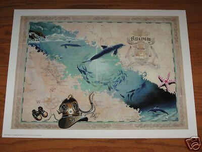 Antique Style  BAHAMAS ART MAP