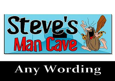 Personalised Man Cave plaque sign gift idea boyfriend husband dad shed workshop