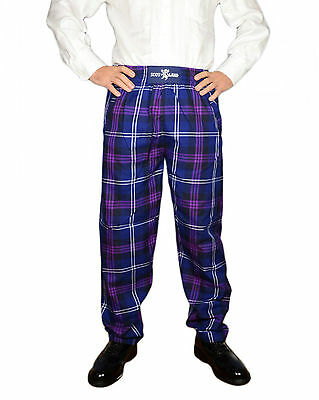 Mens Heritage Of Scotland Tartan Scottish Casual/ Golf Trousers