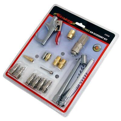 17 Piece Air Accessory Tool Set  (coupler connector inflator blower and more)