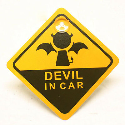 Cute Baby On Board Devil In Car Sign Car Window Sign Decoration Baby Kids Adult